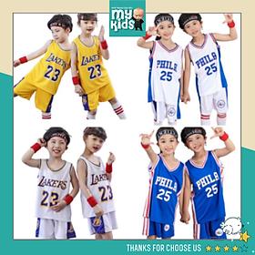 Bộ quần áo bé trai thể thao FORM RỘNG chất liệu thông hơi đục lỗ thoáng mát thời trang phong cách M.Ỹ