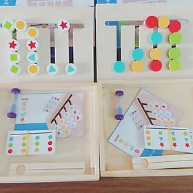 Bộ Montessori Toán học, hình khối 2in1 - Phát triển Tư duy Logic