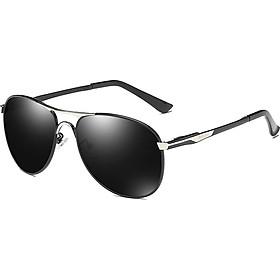Molong Polarized pilot sunglasses driver driving driving big box sunglasses frog mirror men's fashion trend glasses M8722 black gold black gray tablets