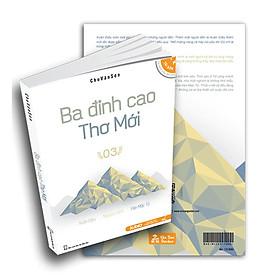 Combo 2( Sách Ba đỉnh cao thơ mới +01 Đánh dấu trang gỗ độc quyền +01 Bưu thiệp ngẫu nhiên)