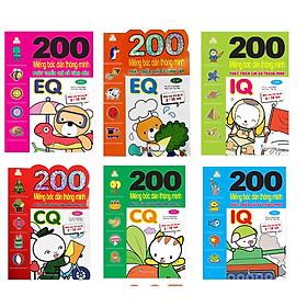 Bộ bóc dán hấp dẫn dành cho bé từ 2-6 tuổi:  Combo 6 Tập 200 Miếng Bóc Dán Thông Minh Giúp Bé Phát Triển Các Chỉ Số Iq,Eq,Cq