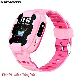 Đồng hồ thông minh trẻ em Anncoe AC98S nghe gọi hai chiều định vị Wifi + Dung lượng pin lớn 680mAh chống nước IP67 - Hàng Chính hãng