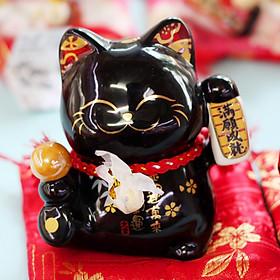 """Mèo Thần tài Jinshi Đen 9cm """"Thành Tựu Mãn Nguyện"""""""