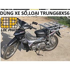 Giá chở hàng XE SỐ 68x56cm - Lộc Phát- baga chở hàng - giachohang.com (wave, jupiter, sirius, exciter)