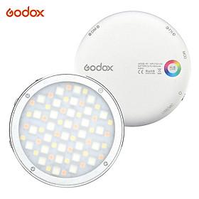 Godox R1 Tròn RGB Mini Creative Light LED Ánh sáng lấp đầy ánh sáng Video 2500K-8500K CRI 98 để quay video Vi phim truyền trực tiếp Chụp ảnh chân dung tĩnh vật