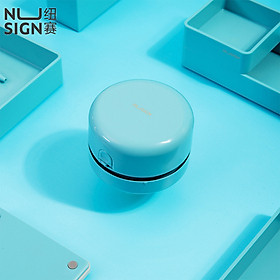 Nusign Portable Desktop Cleaner Mini Desk Vacuum Cleaner Built-in Collection Box Strong Cleanup Comfortable Lightweight Durable Cleaner 360° Ascending Wind Direction Cleaners For School Office Home