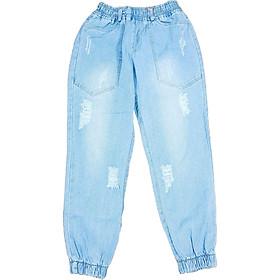 quần jean nữ baggy lưng thun freesize từ 40 - 55kg hàng made in Viet Nam