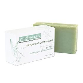 Xà phòng rửa mặt đất sét xanh rendez-vous Detoxifying Cleansing Bar 100g (dành cho da thường hoặc da hỗn hợp)
