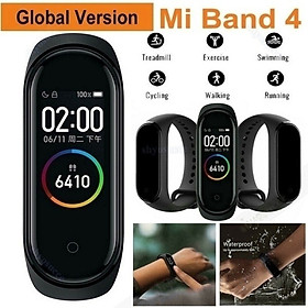 Band 4 Smart Wristband Fitness Bracelet Heart Rate Monitor Activity Tracker Smart Band Sport Watch for IOS Xiaomi PK Mi Band 3 (black,blue,red)