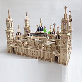 Đồ chơi lắp ráp gỗ 3D Mô hình tháp Pilar Basilica