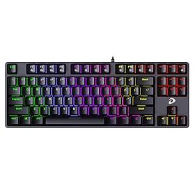 Bàn phím máy tính DARE-U EK87 Multi-Led , Black Blue - hàng Chính Hãng