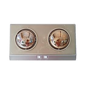 Đèn Sưởi Nhà Tắm ABG  CH-C2D 2 Bóng Sưởi, Mỗi Bóng Công Suất 275W, Phù Hợp Với Phòng Tắm Rộng Từ 2-3 Mét Vuông - Hàng Chính Hãng
