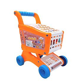 Xe đẩy siêu thị đồ chơi (có nhạc, đồ chơi bếp) HT7653