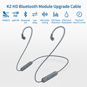 KZ HD Aptx CSR8675 Bluetooth Module Earphone Cable Bluetooth 5.0 Wireless Upgrade Cable Wire With 2PIN For KZ