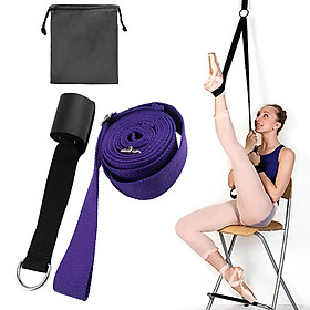 Adjustable Ballet Stretch Band Leg Stretcher with Door Achor Gymnastics Exercise Dance Training Foot Stretching Band-4