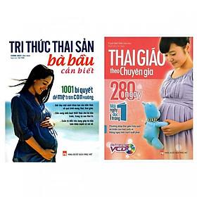Combo Sách Tri Thức Thai Sản Bà Bầu Cần Biết và Thai Giáo Theo Chuyên Gia + 1 cuốn truyện song ngữ anh việt ngẫu nhiên