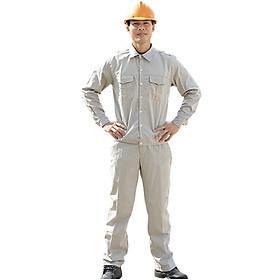 Bộ quần áo bảo hộ màu ghi