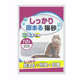 Cát Vệ Sinh Nhật Bản Thế Hệ Mới 10L - Siêu Vón Siêu Thấm Hút Siêu Khử Mùi