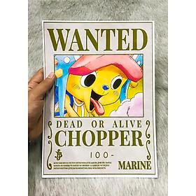 Poster One Piece Chopper mới, Poster Lệnh Truy Nã Chopper (Hình dán tường tiện lợi, Chất lượng Full HD)