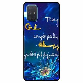 Ốp lưng in cho Samsung A51 Mẫu Thư Pháp Cha Mẹ