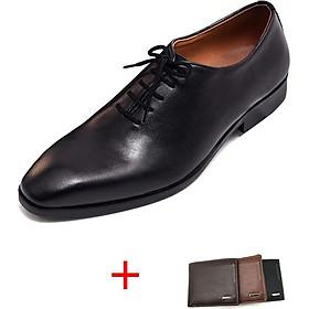 Giày tây nam 103B da bò cao cấp( tặng kèm ví da)