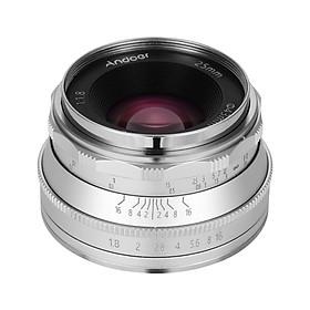 Andoer 25mm F1.8 Manual Focus Lens Large Aperture Compatible with Canon M1/ M2/ M3/ M5/ M6/ M10/ M100/ M50 EOS M-Mount