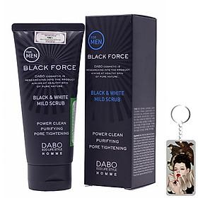 Sữa rửa mặt Nam Dabo Black Force Men Hàn Quốc 120ml Tặng Móc khoá