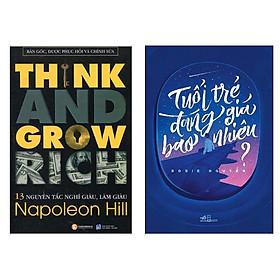 Combo Think And Grow Rich - 13 Nguyên Tắc Nghĩ Giàu Làm Giàu + Tuổi Trẻ Đáng Giá Bao Nhiêu? (Trọn Bộ 2 Cuốn Tuổi Trẻ và Kỹ Năng Làm Giàu/ Tặng Kèm Bookmark Green Life)