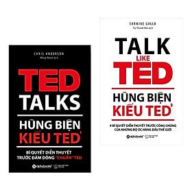 """Combo Hùng Biện Kiểu TED: TED 1 - Bí Quyết Diễn Thuyết Trước Đám Đông """"Chuẩn"""" TED + TED 3 – 9 Bí Quyết Diễn Thuyết Trước Công Chúng Của Những Bộ Óc Hàng Đầu Thế Giới (Bộ 2 cuốn/ Tặng kèm Bookmark Happy Life)"""