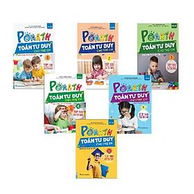 Bộ Sách PoMath - Toán Tư Duy Cho Trẻ Em 4-6 Tuổi (Tặng kèm bút chì Kingbooks)