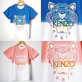 Áo thun basic nữ thêu chữ kenzo in hình đầu hổ tay ngắn chất cotton - TPT K01