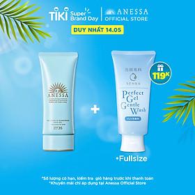 Kem chống nắng dạng gel dịu nhẹ cho da nhạy cảm và trẻ em Anessa Perfect UV Sunscreen Mild Gel SPF 35 PA+++ 90g