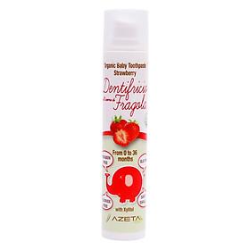 Gel Đánh Răng Vị Dâu Tây Organic Toothpaste Strawberry Azeta Bio GDR003 (50ml)