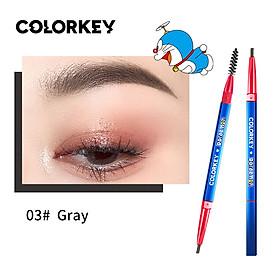 Colorkey Dual-ended Eyebrow Pencil with Brush Long-lasting Waterproof Natural Eyebrow Pen Eye Makeup -Doraemon Series
