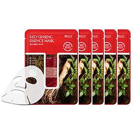 5 Miếng Mặt Nạ Tinh Chất Hồng Sâm SNP Dưỡng Ẩm Da 25ml Red Ginseng Essence Mask