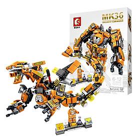 Đồ chơi lắp ghép Robot Biến Hình MK Series chi tiết Bằng nhựa ABS an toàn