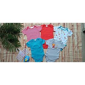 Set 5 body chip, bodysuit cho bé trai và bé gái sơ sinh từ 0-9kg - BC02