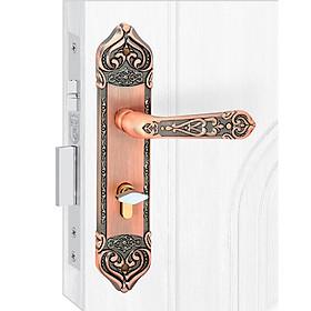 Ổ khoá cửa tay gạt Việt Tiệp 04351 làm từ hợp kim màu nâu giả cổ dành cho cửa thông phòng