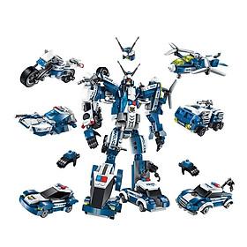 Hộp 6 bộ đồ chơi lắp ráp Chiến binh cuồng nộ 6in1 Qman 1407 (577 chi tiết)