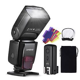 Andoer Ad560 Iv Pro 2.4G Wireless Universal On-Camera Slave Speedlite Flash Light Gn50 With Flash Trigger Color Filters - Black