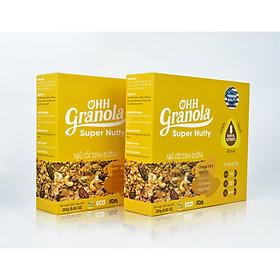 Quà Tặng Tết  2021_OHH Granola  Ngũ Cốc Nutty Siêu Dinh Dưỡng Dòng Super Nutty (Ohh Granola) 250g, Phối Trộn 7 Loại Hạt Cao Cấp Theo Tiêu Chuẩn FDA - Hoa Kỳ