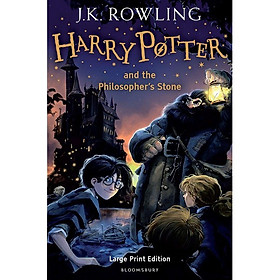 Harry Potter Part 1: Harry Potter And The Philosopher's Stone (Hardback) Large Print Edition (Harry Potter và Hòn đá phù thủy) (English Book)