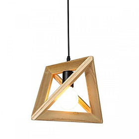 Đèn thả gỗ tam giác đa chiều sơn bóng Goldseee kèm bóng LED UK DOCTOR LAMP