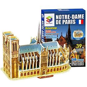 Mô Hình Giấy 3D Magic Puzzle : Nhà Thờ Đức Bà Paris (39 Chi Tiết)