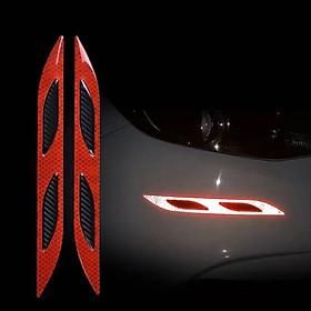 Mang cá phản quang dán xe ô tô MC034