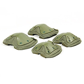 4 Piece Set Combat Knee & Elbow Protective Pads Outdoor Sports Well-Knit Tools Adjustable Easy-Fix Clips