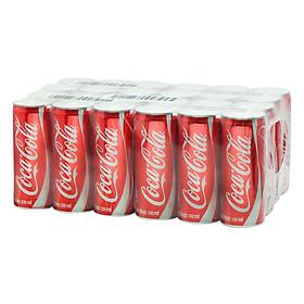 Lốc 24 Lon Nước Giải Khát Có Gas Coca-Cola Sleek (330ml / Lon)