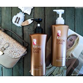 Bộ dầu gội xả Kerasys Salon Care Nutritive - Dành cho tóc hư tổn Hàn Quốc 600ml tặng kèm móc khoá-8