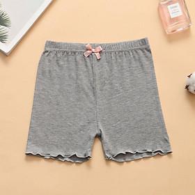Quần legging đùi mùa hè len tăm đính nơ đẹp tiện lợi an toàn cho bé gái QATE19