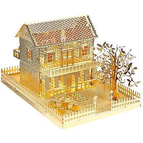Mô hình lắp ráp kim loại Piececool P028-G - Biệt thự cổ điển